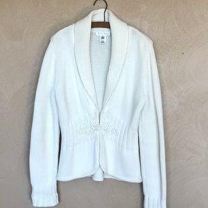 White House Black Market xl white sweater